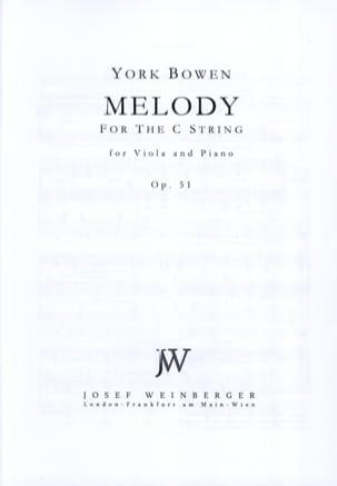Mélody Op. 51 Edwin York Bowen Partition Alto - laflutedepan