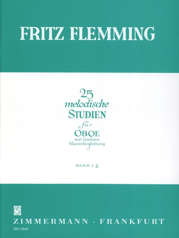 25 Melodische Studien - Oboe - Bd. 2 - laflutedepan.com