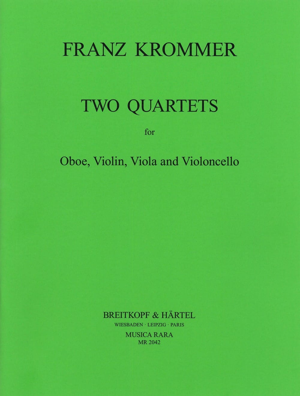 2 Quartets in C and F - Oboe violin viola cello - laflutedepan.com