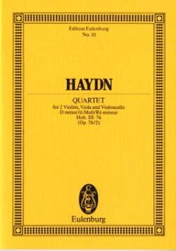 Streich-Quartett d-moll op. 76 n° 2 HAYDN Partition laflutedepan