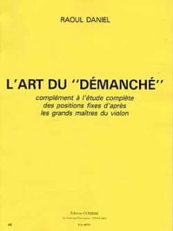 L' Art du Démanché Raoul Daniel Partition Violon - laflutedepan