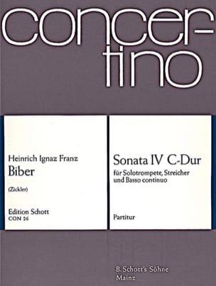 Sonate Nr. 4 C-Dur - Conducteur BIBER Partition laflutedepan