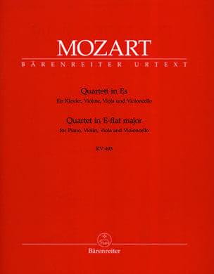 MOZART - Quartet in E flat major KV 493 - Instrumental parts - Partition - di-arezzo.co.uk