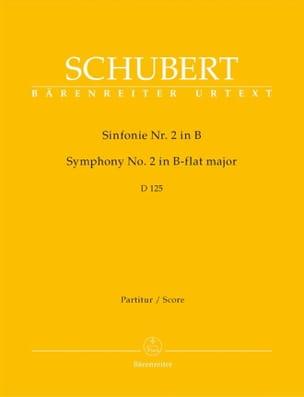 Symphonie Nr. 2 B-Dur D. 125 - Partitur SCHUBERT laflutedepan