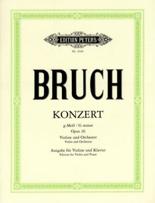 Max Bruch - Violin Concerto in G Minor No. 1 Op.26 - Partition - di-arezzo.co.uk