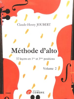 Méthode d'alto Volume 2 Claude-Henry Joubert Partition laflutedepan