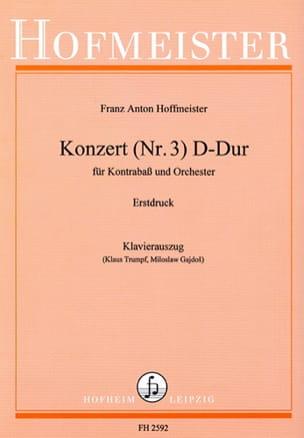 Kontrabass-Konzert n° 3 D-Dur HOFFMEISTER Partition laflutedepan