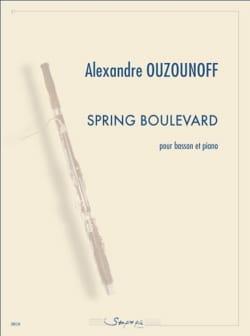 Alexandre Ozounoff - Spring Boulevard - バスーンとピアノ - Partition - di-arezzo.jp