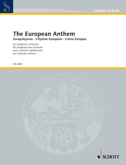 Europahymne - Partition - Grand format - laflutedepan.com