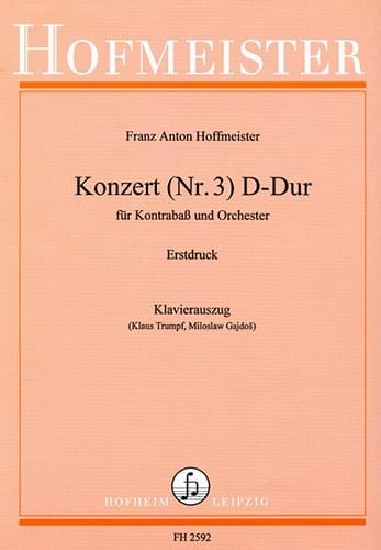 Kontrabass-Konzert n° 3 D-Dur - HOFFMEISTER - laflutedepan.com