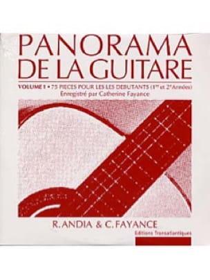 CD du Panorama de la Guitare - Volume 1 - laflutedepan.com