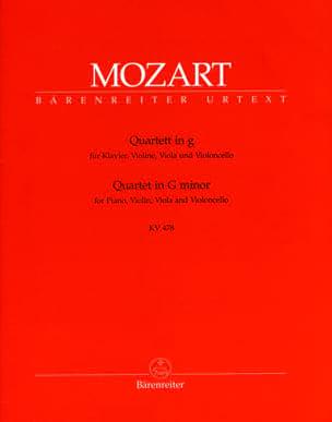 Quatuor en sol mineur KV 478 -parties instrumentales laflutedepan