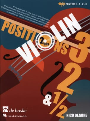 Positions 3 - 2 & 1/2 Nico Dezaire Partition Violon - laflutedepan