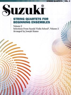 String Quartets for Beginning Ensembles Volume 2 SUZUKI laflutedepan