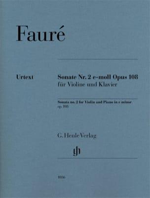 Sonate n° 2 en mi mineur, opus 108 - Violon et piano laflutedepan