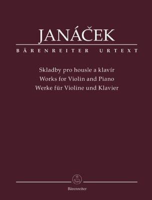 Oeuvres pour violon et piano JANACEK Partition Violon - laflutedepan