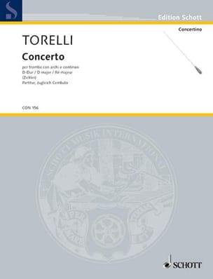 Trompeten-Konzert D-Dur - Partitur TORELLI Partition laflutedepan