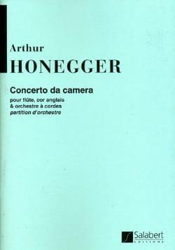 Concerto Da Camera - Conducteur HONEGGER Partition laflutedepan
