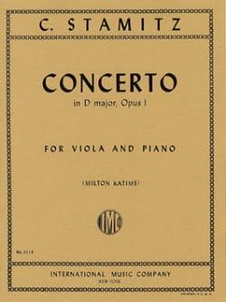 Concerto in D major op. 1 STAMITZ Partition Alto - laflutedepan