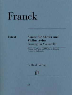 Sonate en La Majeur - Violoncelle et Piano FRANCK laflutedepan