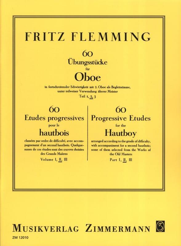 60 Ubungsstücke Für Oboe Vol.2 - Fritz Flemming - laflutedepan.com