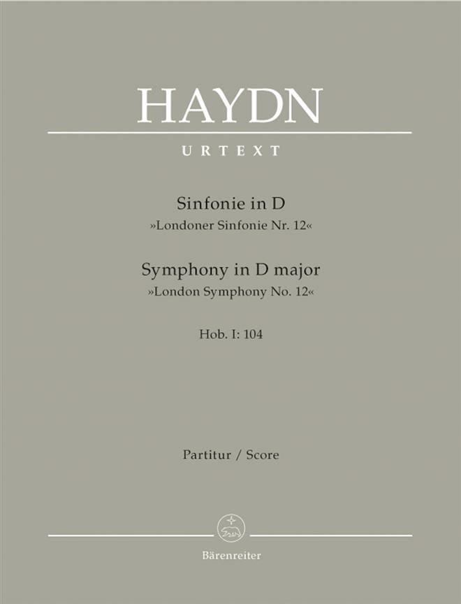 Symphonie Nr. 104 D-Dur -Partitur - HAYDN - laflutedepan.com