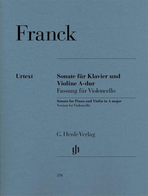 Sonate en La Majeur - Violoncelle et Piano - FRANCK - laflutedepan.com