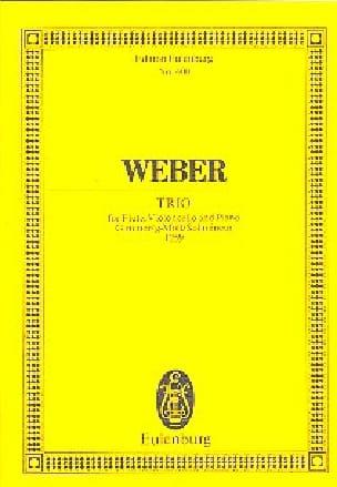 Trio G-Moll, Opus 63 Carl Maria von Weber Partition laflutedepan