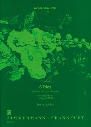 6 Trios -Nr. 2 A-Dur - Partitur + Stimmen laflutedepan