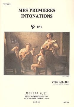 Yves Callier - My first intonations - Partition - di-arezzo.co.uk