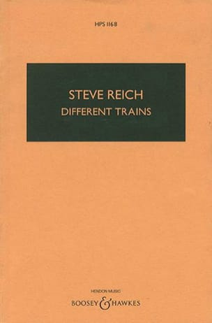 Different Trains Steve Reich Partition Grand format - laflutedepan