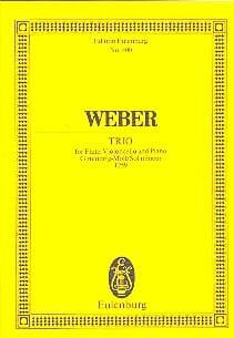 Trio G-Moll, Opus 63 - Carl Maria von Weber - laflutedepan.com