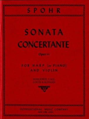 Sonata concertante op. 115 - SPOHR - Partition - 0 - laflutedepan.com