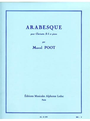 Arabesque Marcel Poot Partition Clarinette - laflutedepan