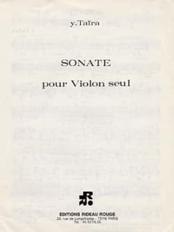 Sonate - Violon solo Yoshihisa Taira Partition Violon - laflutedepan
