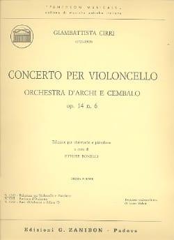 Concerto per violoncello op. 14 n° 6 Giambattista Cirri laflutedepan