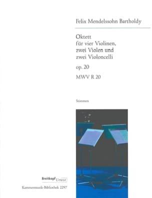 Octuor op. 20 MENDELSSOHN Partition OCTUORS - laflutedepan