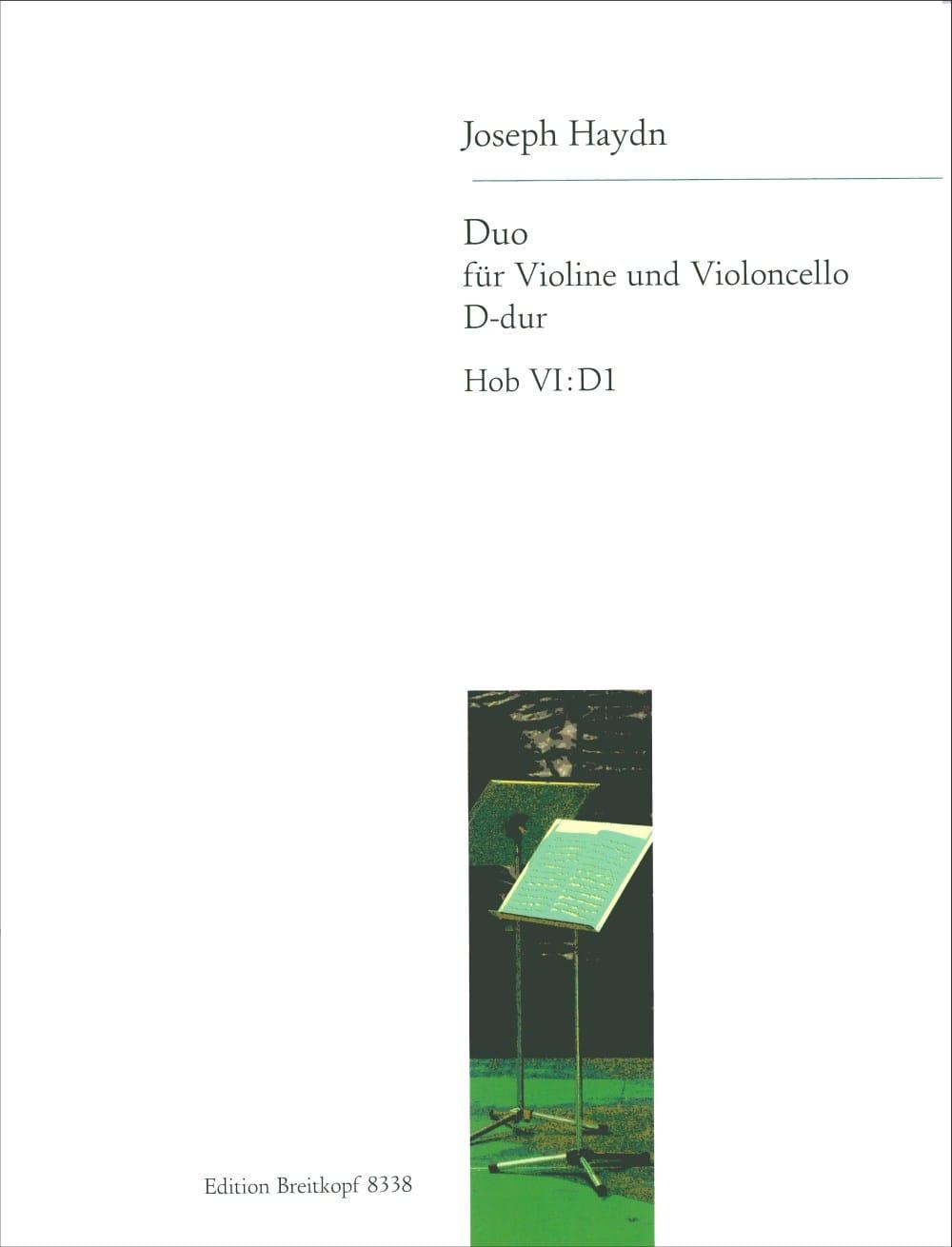 Duo Hob 6: D1, D-Dur - HAYDN - Partition - 0 - laflutedepan.com