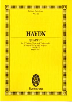 Streich-Quartett E-Dur op. 17 n° 1 - HAYDN - laflutedepan.com