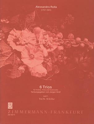 6 Trios - Heft 1 : Nr. 18 G-Dur -Stimmen laflutedepan