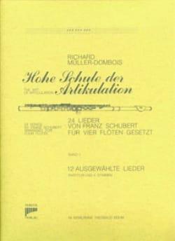 24 Lieder Bd. 1 - 12 Lieder - 4 Flöten SCHUBERT Partition laflutedepan