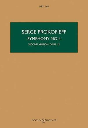 Symphonie n° 4 - Score PROKOFIEV Partition Grand format - laflutedepan