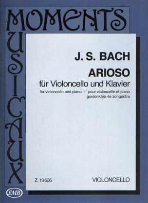 Arioso BACH Partition Violoncelle - laflutedepan