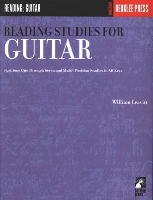 Reading Studies for guitar William Leavitt Partition laflutedepan
