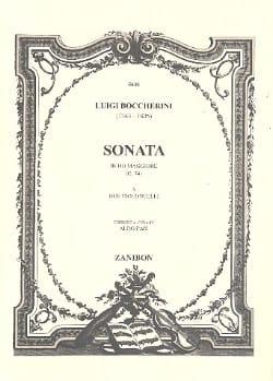 Sonata in do magg a due violoncelli BOCCHERINI Partition laflutedepan
