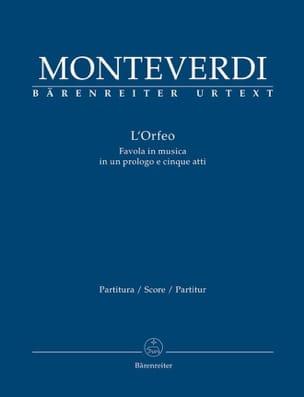 L' Orfeo, Opéra MONTEVERDI Partition Grand format - laflutedepan