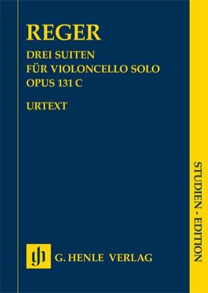3 Suiten, opus 131c Max Reger Partition Violoncelle - laflutedepan