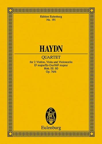 Streich-Quartett Es-Dur op. 76 n° 6 - HAYDN - laflutedepan.com