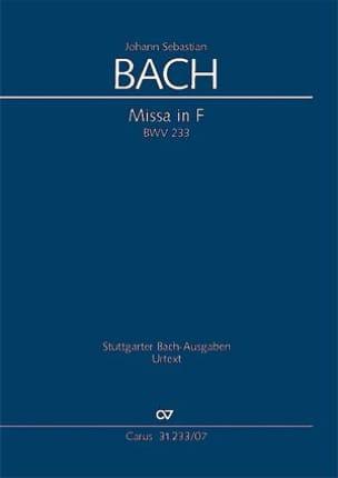 Messe en Fa BWV 233 - BACH - Partition - laflutedepan.com