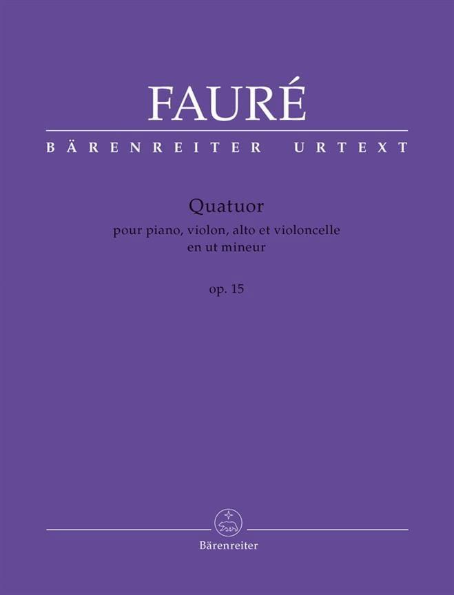 Quatuor Op. 15 en Ut Mineur - FAURÉ - Partition - laflutedepan.com